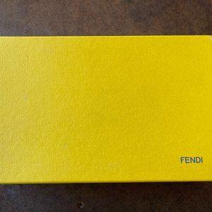 Fendi Zucchino coated canvas long wallet